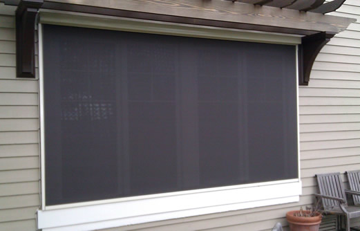 Exterior blackout shades for Exterior motorized solar shades